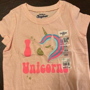 Light pink (peach) unicorn ss t